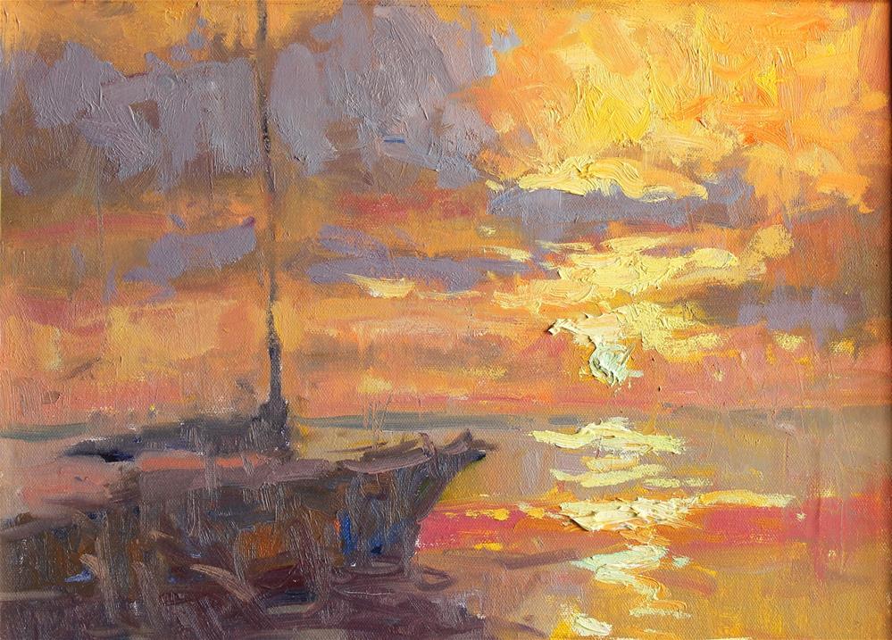 """""""Sunset Sail"""" original fine art by Michael Clark"""