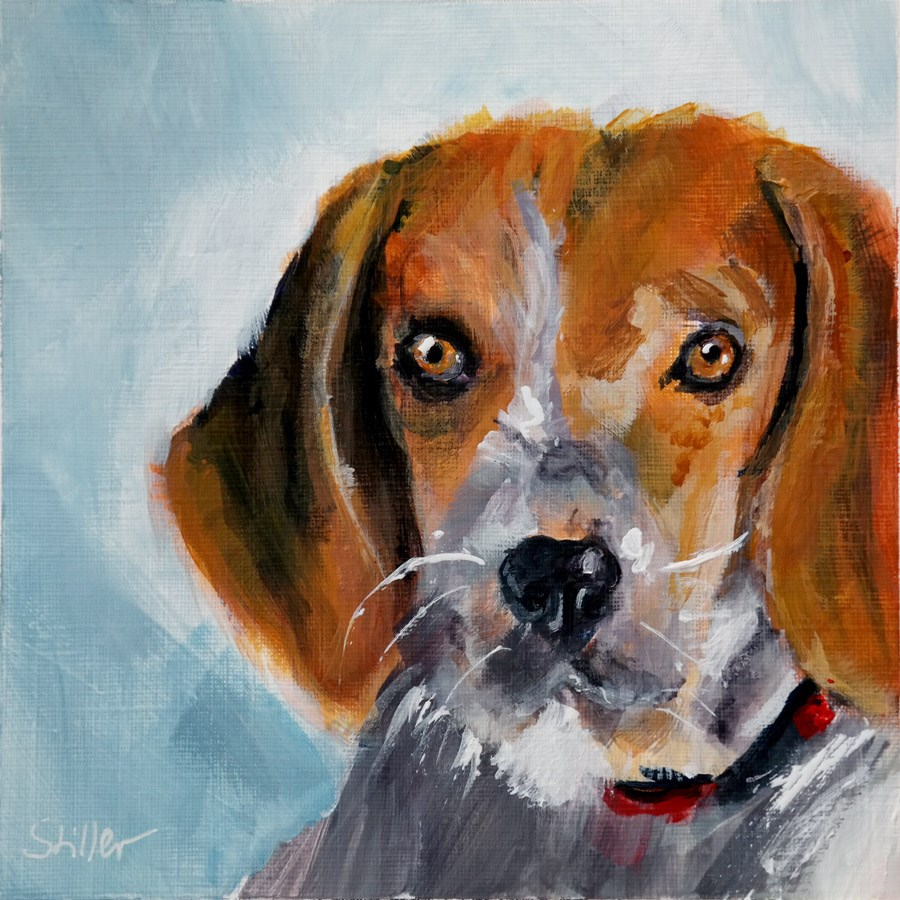 """2025 Brown-haired Dog"" original fine art by Dietmar Stiller"
