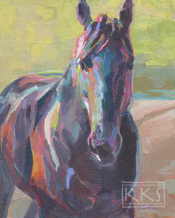 """Black"" original fine art by Kimberly Santini"