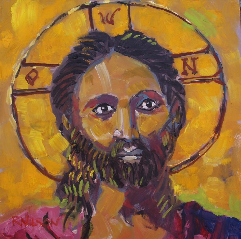 """Copyright Jesus"" original fine art by Rick Nilson"