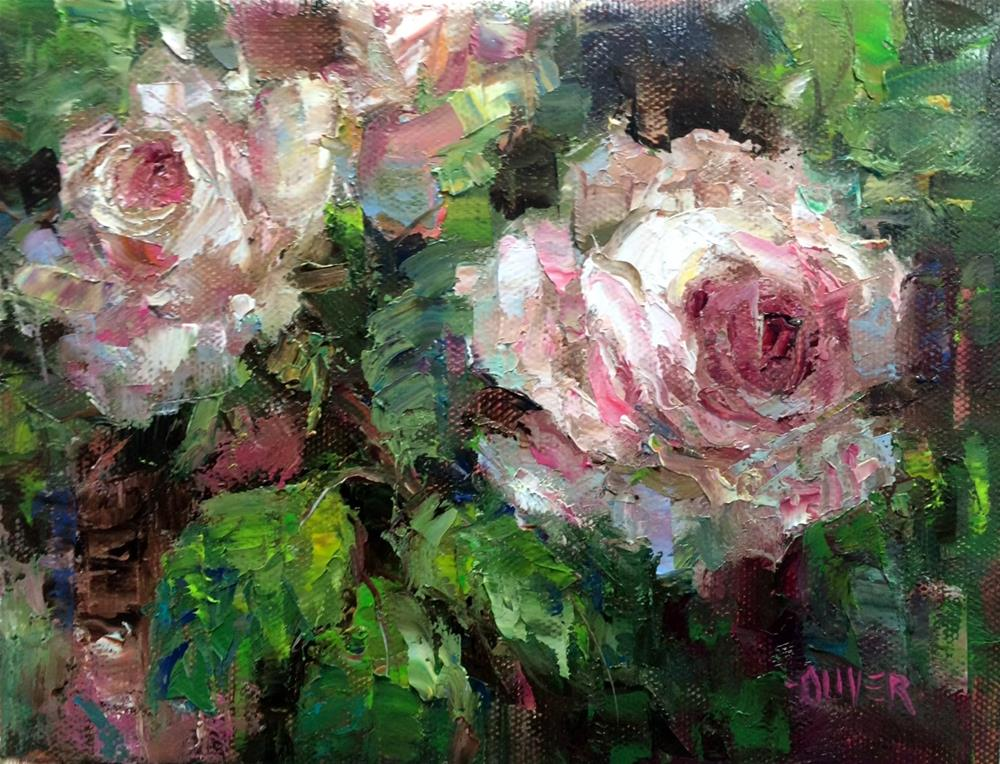 """ Early For Roses?"" original fine art by Julie Ford Oliver"