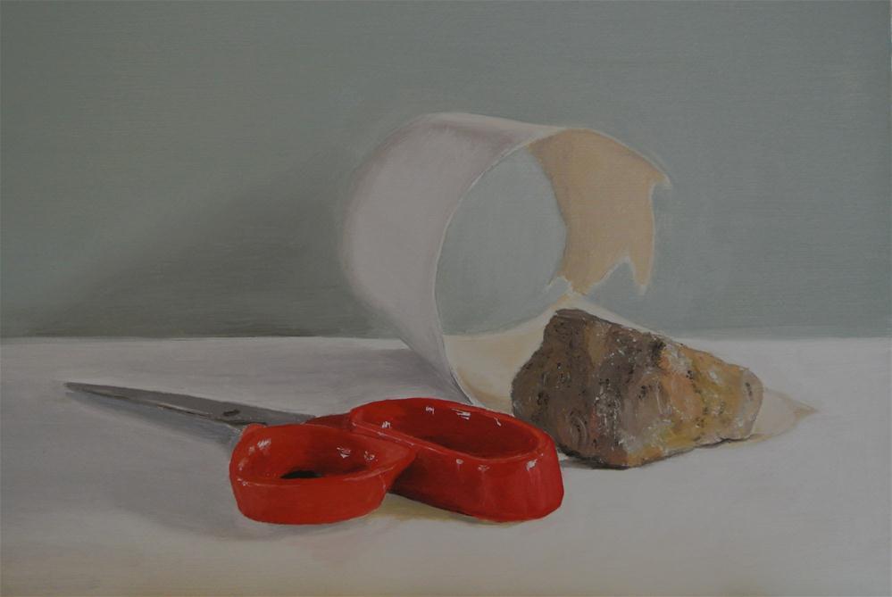 """Rock Paper Scissors"" original fine art by James Coates"