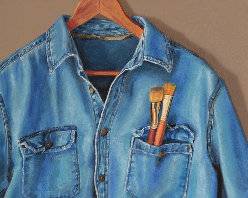 """Artist's Shirt"" original fine art by Nance Danforth"