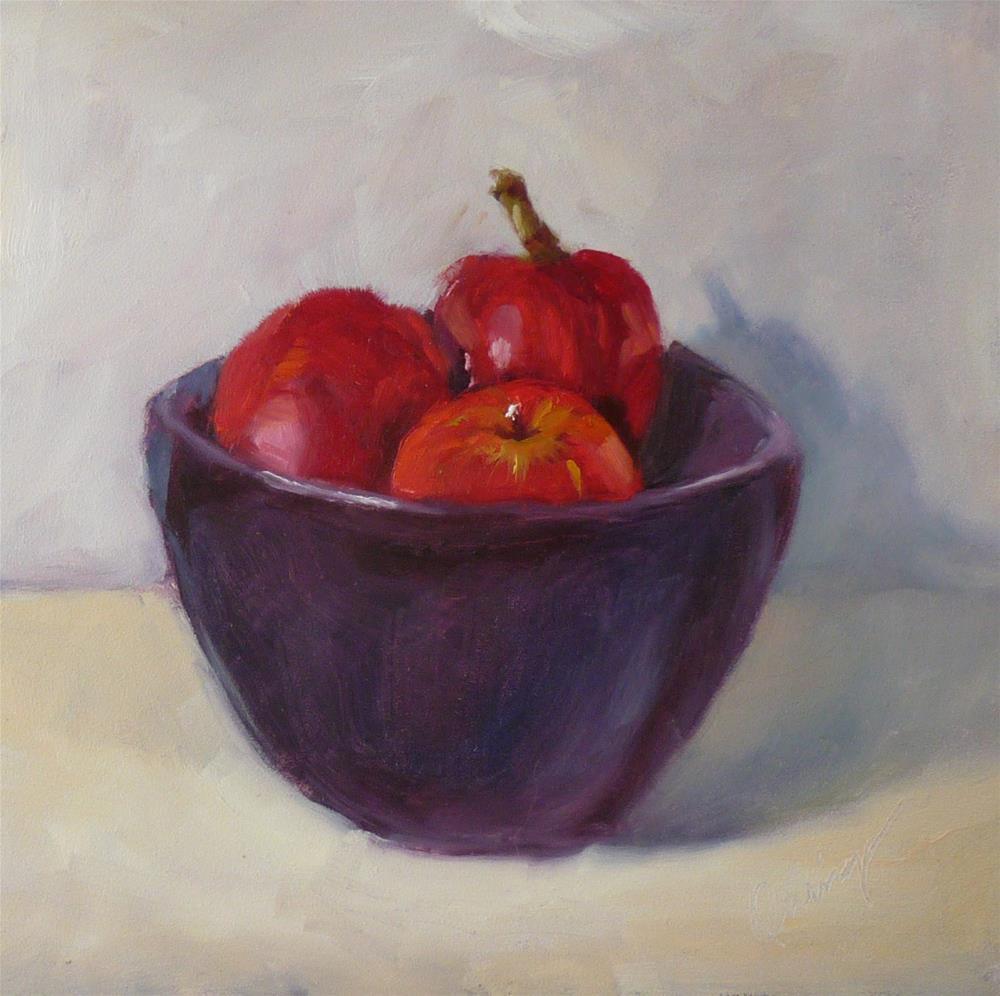 """Apples, No Thrift"" original fine art by Sharman Owings"