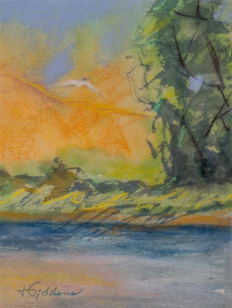 """""""Flying South"""" original fine art by Jeri Giddens"""