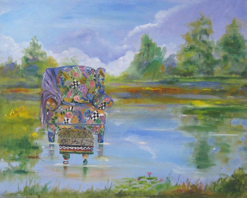 """Dreaming"" original fine art by Linda McCoy"