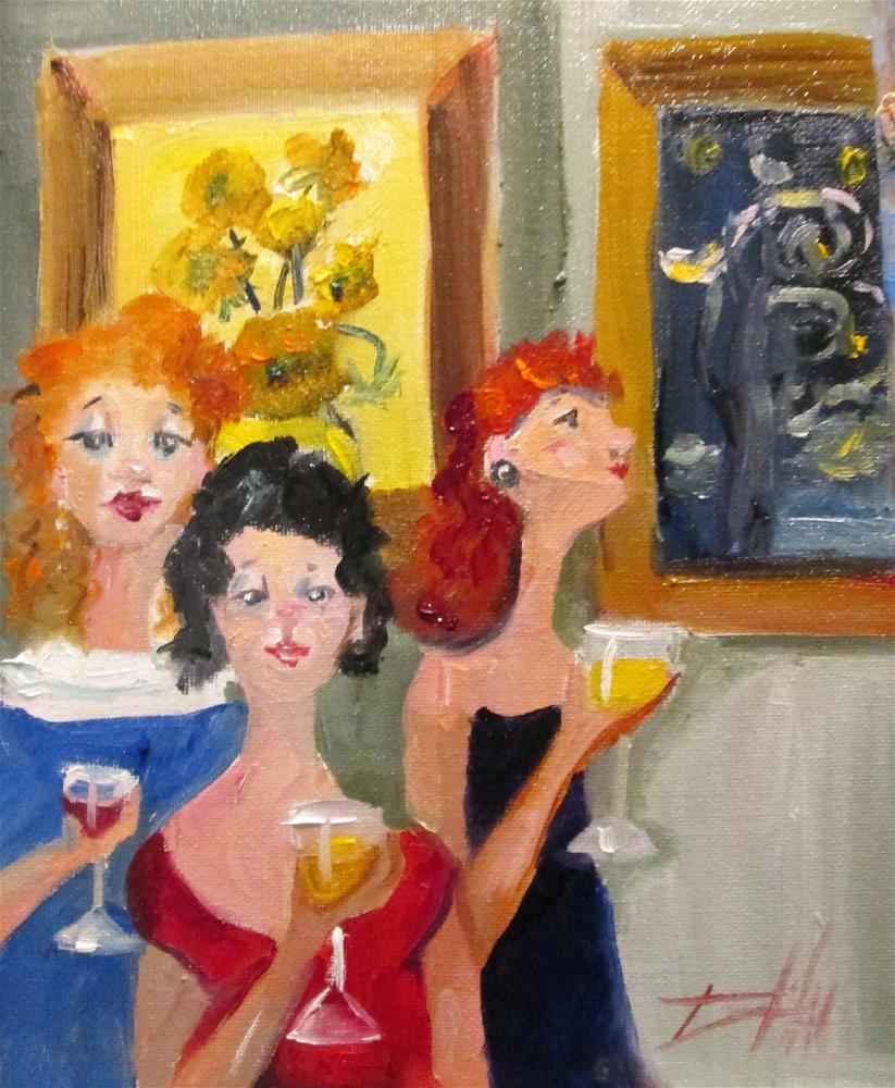 """""""Wine and Art"""" original fine art by Delilah Smith"""