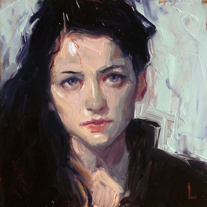 """In Black"" original fine art by John Larriva"