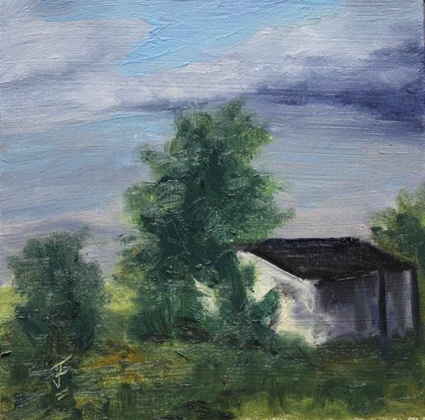 """Overgrown Haven"" original fine art by Jane Frederick"