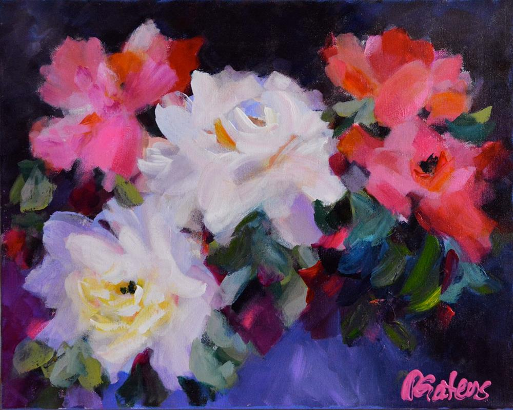 """""""Roses, Roses"""" original fine art by Pamela Gatens"""