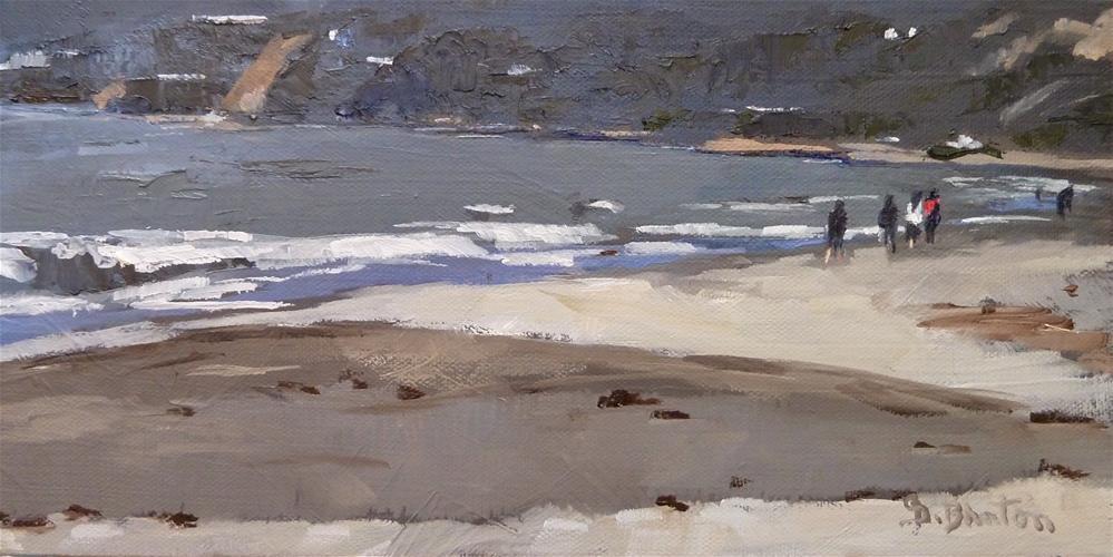 """Santa Monica Beachcombers"" original fine art by Gary Bruton"