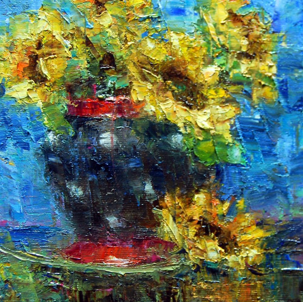 """""""Sunflowers"""" original fine art by Julie Ford Oliver"""