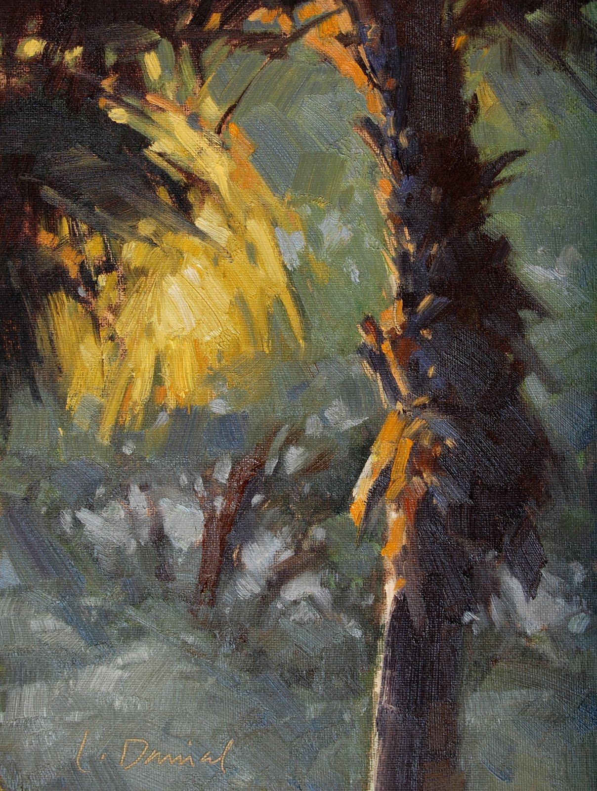 """Blazing Palm"" original fine art by Laurel Daniel"