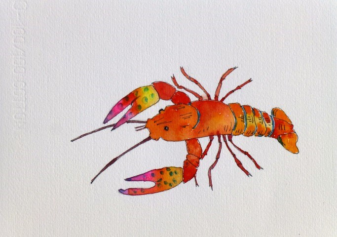 """Craw Fish"" original fine art by Nancy Standlee"