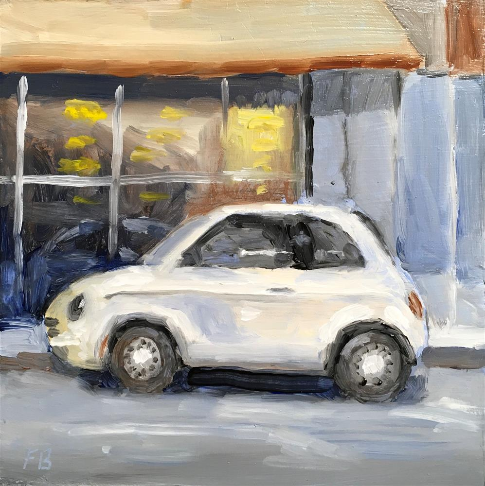 """""""107 Parked Fiat"""" original fine art by Fred Bell"""