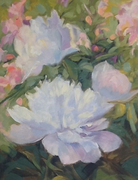 """Peonies"" original fine art by Jean Fitzgerald"