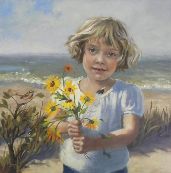 """Ryn"" original fine art by Diane Mannion"