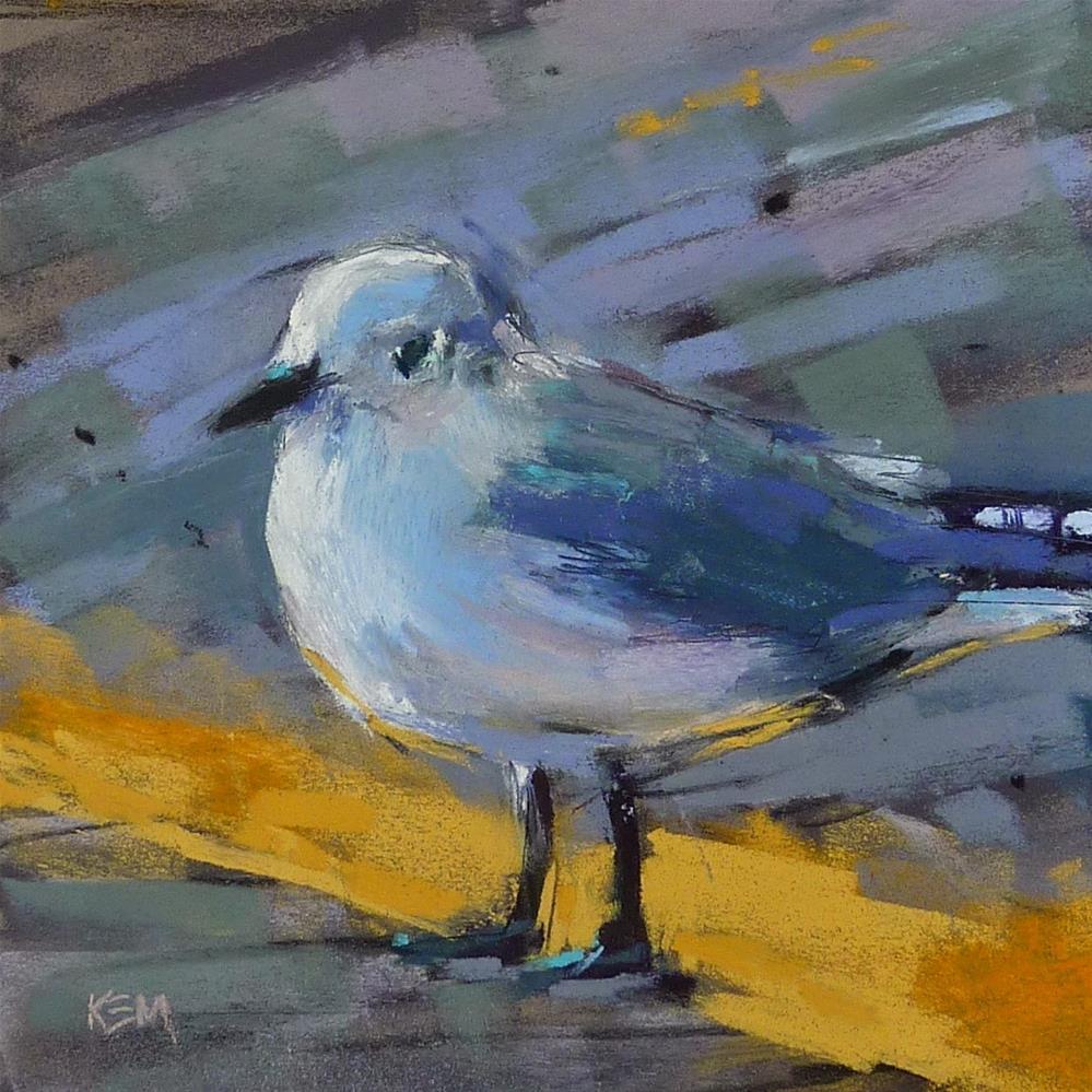 """Painting a Sea Gull"" original fine art by Karen Margulis"