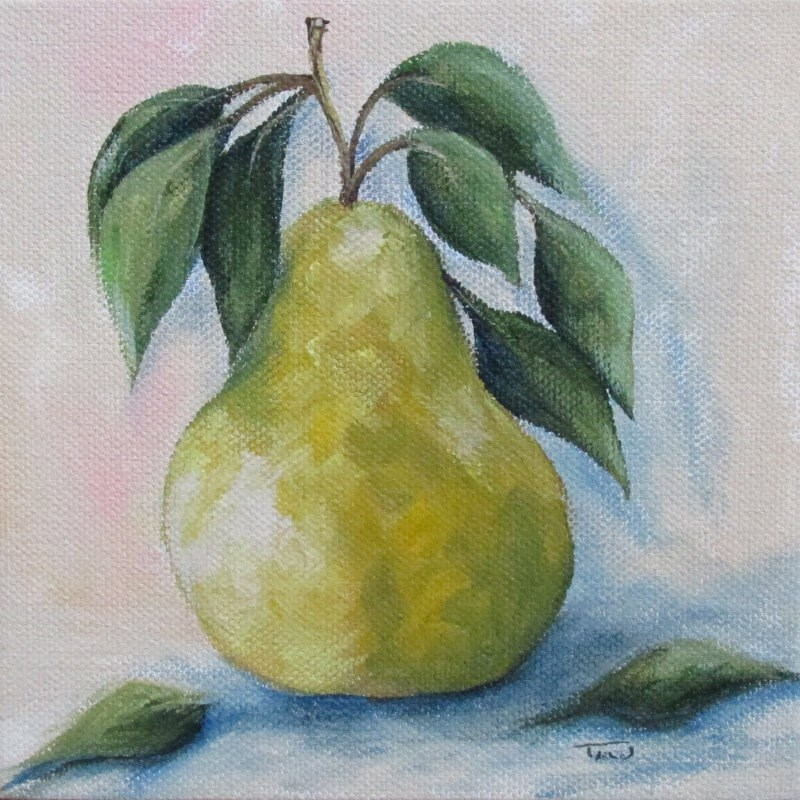 """""""The Spring Pear"""" original fine art by Torrie Smiley"""