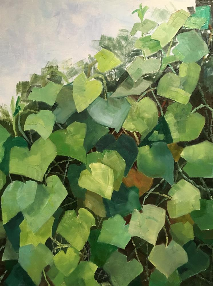 """So Much Green"" original fine art by Milda Vaitiekunaite"