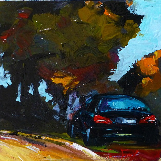 """Autumn road"" original fine art by Jurij Frey"