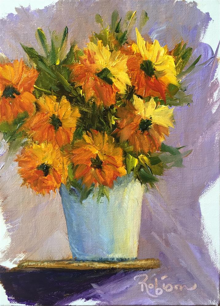 """Church Flowers"" original fine art by Renee Robison"