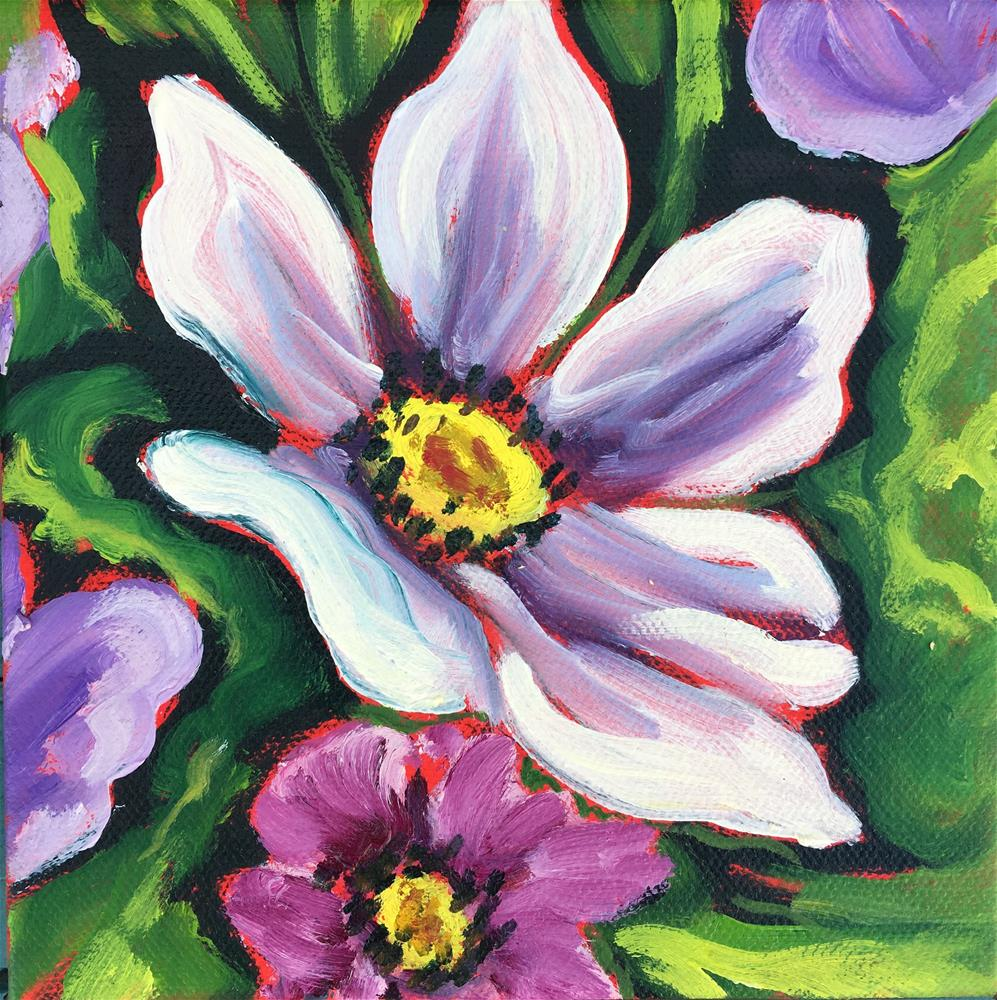 """Spring Cosmo"" original fine art by Robyn Suzanne"