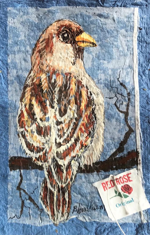 """""""Sparrow"""" original fine art by Linda Blondheim"""