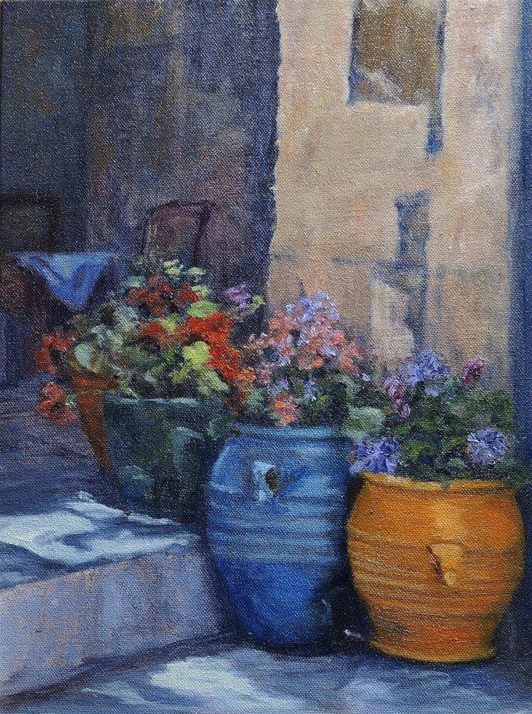 """""""Flower Pots"""" original fine art by Candi Hogan"""
