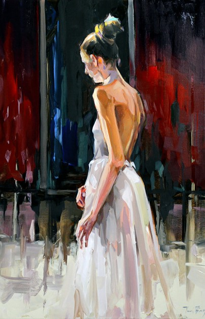 """Ballett"" original fine art by Jurij Frey"