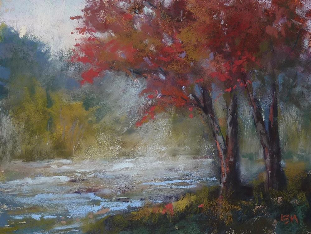 """""""New YouTube Video: How to Paint a Moody Misty Landscape"""" original fine art by Karen Margulis"""