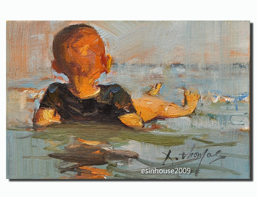 """little boy"" original fine art by Thomas Xie"