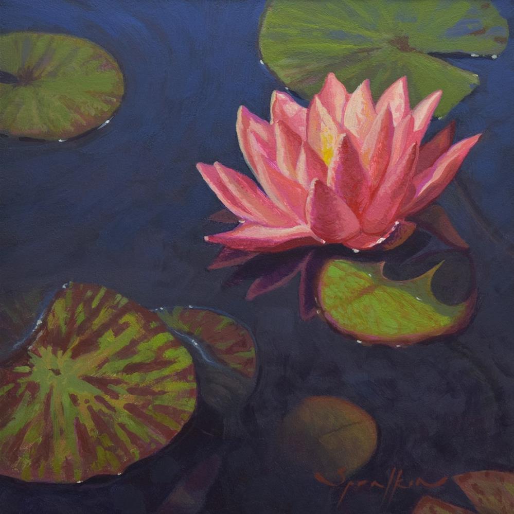 """Water Lily"" original fine art by Edward Sprafkin"