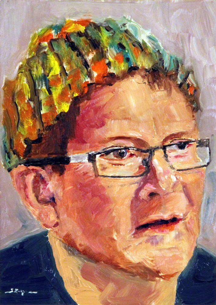 """""""Hat Trick"""" original fine art by Shelley Koopmann"""