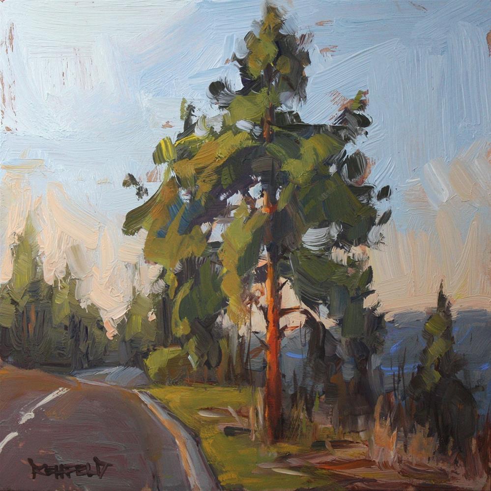 """City Tree"" original fine art by Cathleen Rehfeld"