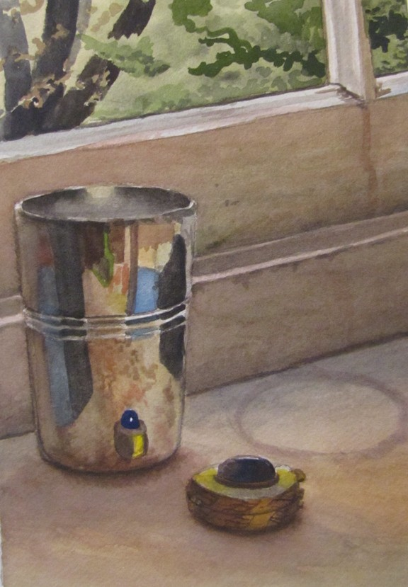 """65 - Cup and Pillcase"" original fine art by Edward Watson"