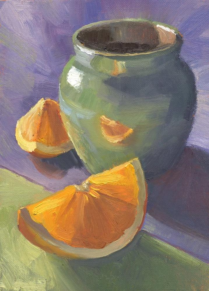 """Orange Reflection"" original fine art by Connie McLennan"