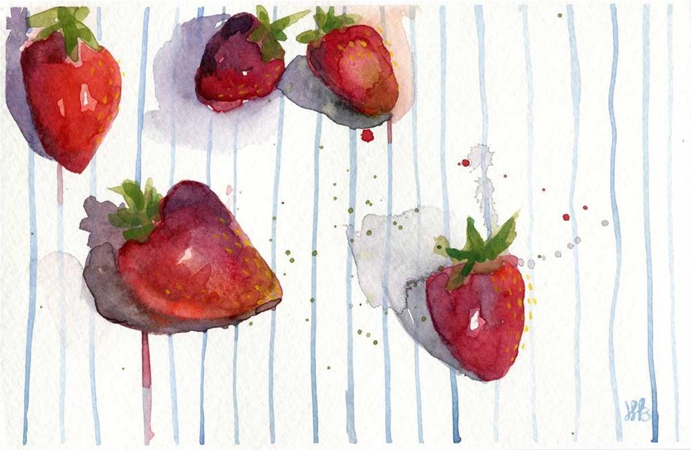 """""""Strawberries and Sunshine"""" original fine art by Heather Bennett"""