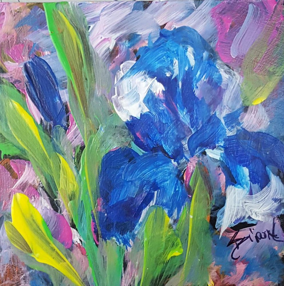 """Tiny Iris"" original fine art by Sue Dion"