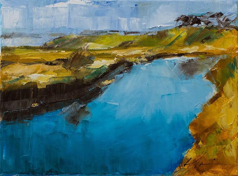 """""""Landscape Challenge #27"""" original fine art by Clair Hartmann"""
