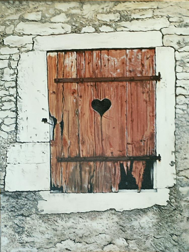 """Hinge Door"" original fine art by Vicki Meadows"