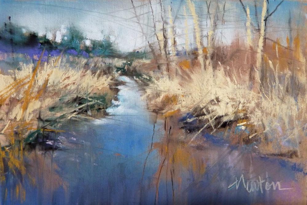 """Sandy's Creek, pastel, 4x6 inches"" original fine art by Barbara Benedetti Newton"