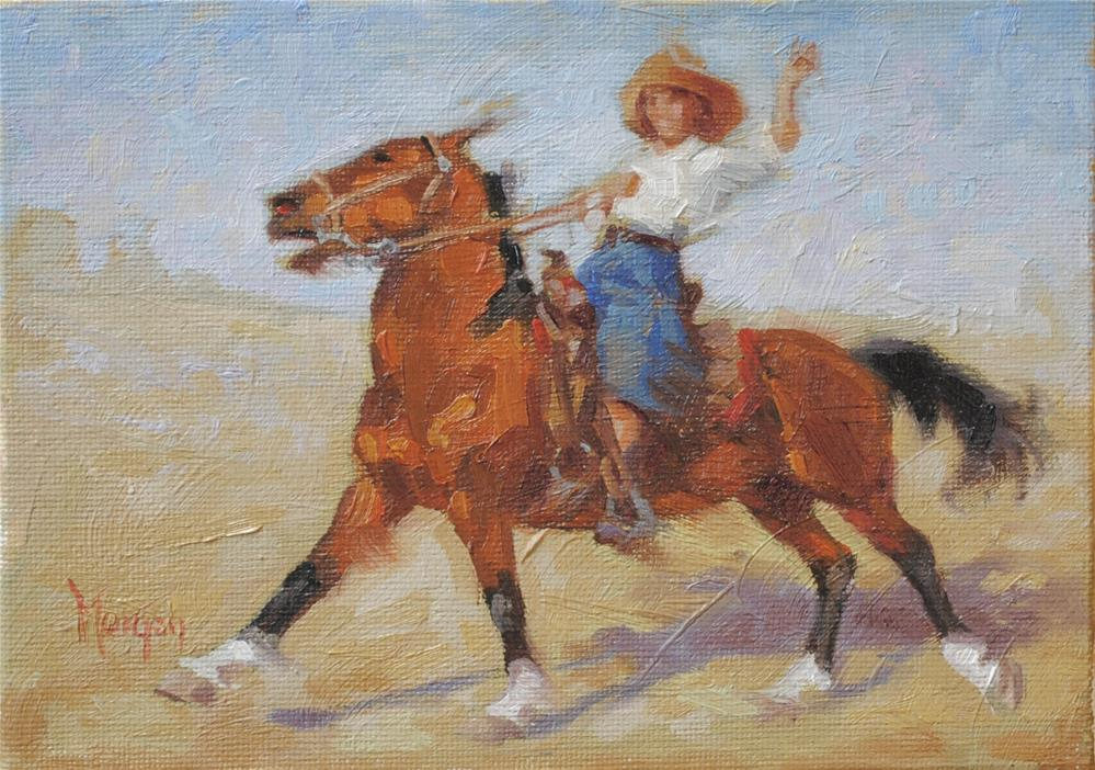 """Cowgirl Memories"" original fine art by Cecile W. Morgan"