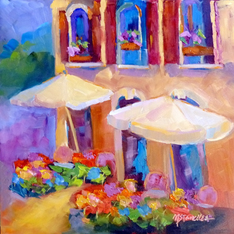 """French Umbrellas 13054"" original fine art by Nancy Standlee"