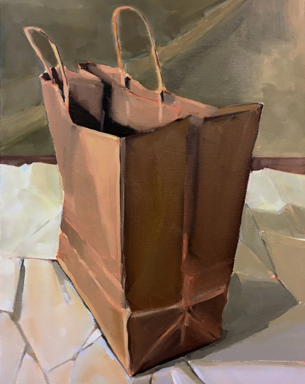 """Bag on Paper"" original fine art by Robin Rosenthal"