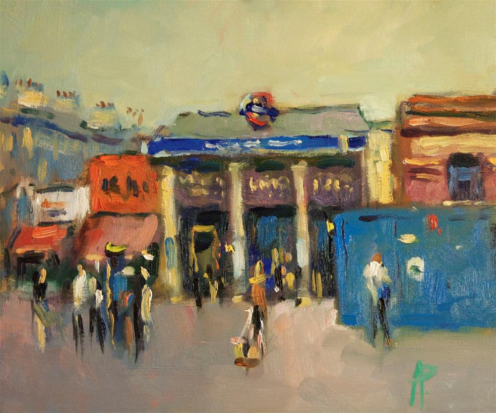 """South Kensington Station"" original fine art by Andre Pallat"
