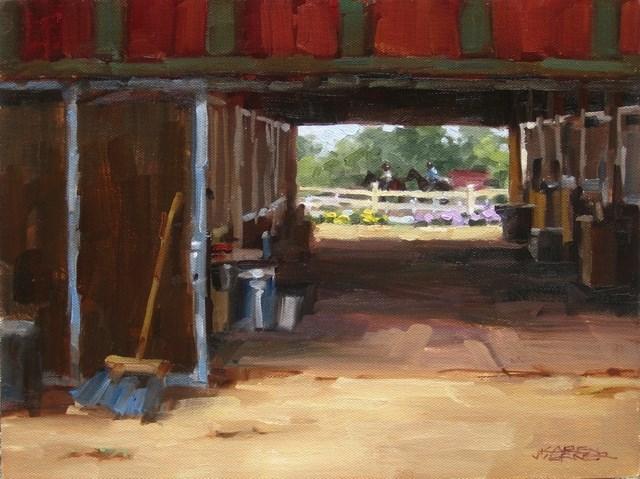 """""""Horse Farm Tunnel"""" original fine art by Karen Werner"""