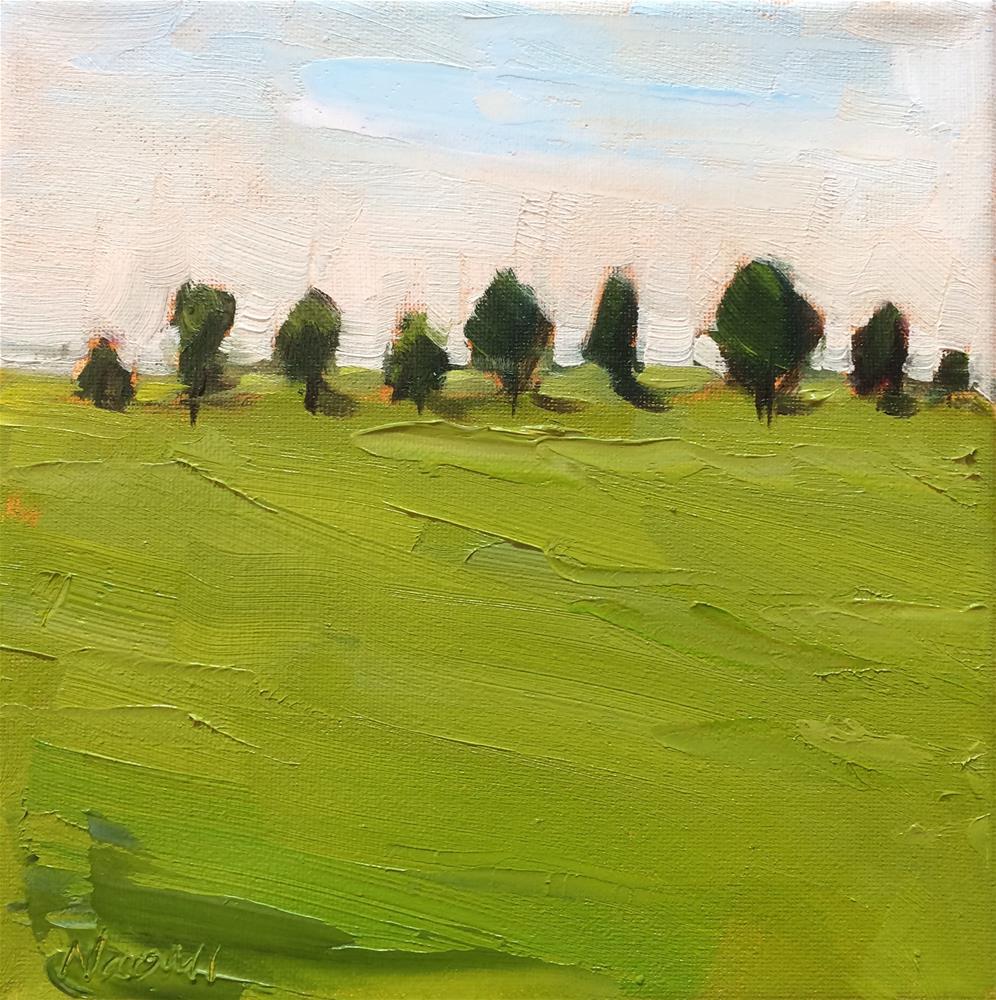 """Lining Up"" original fine art by Naomi Bautista"