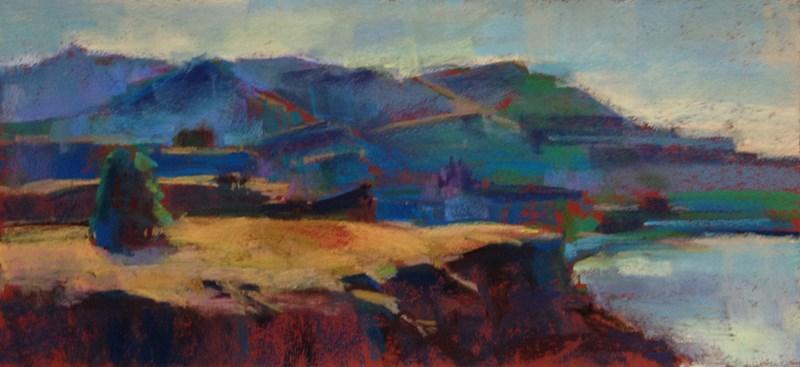 """""""Hood River Hot Morning Light"""" original fine art by Patti McNutt"""