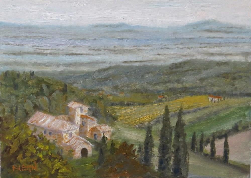 """Tuscan Mist"" original fine art by Richard Kiehn"